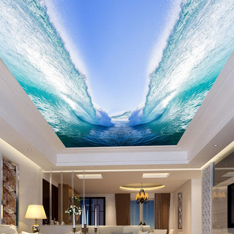 Custom-Any-Size-3D-Wall-Mural-Wallpaper-Seawater-Huge-Waves-Bedroom-Living-Room-Sky-Suspended-Ceiling